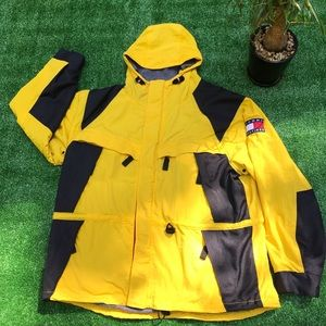 Vntg 90s Tommy Hilfiger Fleece Parka Winter Jacket